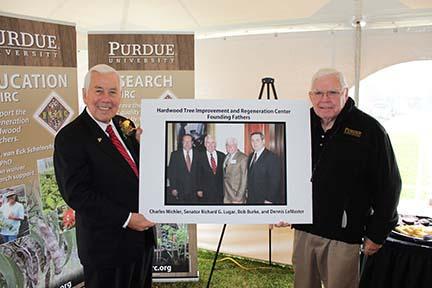 Bob Burke and Senator Lugar