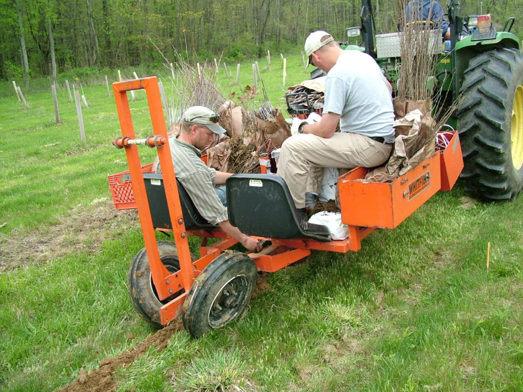 Image of tree planting machine